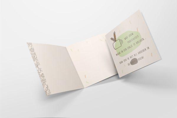 Luxe kaart - positiviteit in een zakje